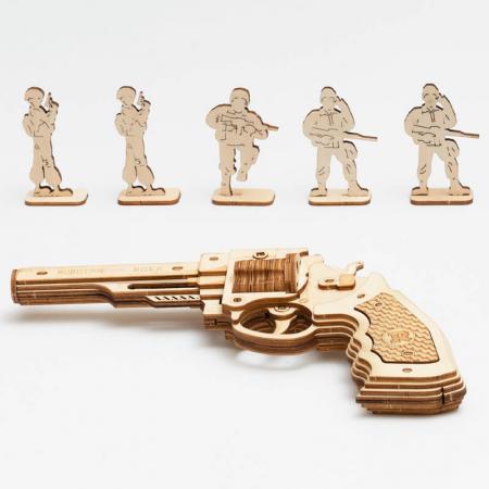 Revolver Corsac M60 - Puzzle 3D din lemn1