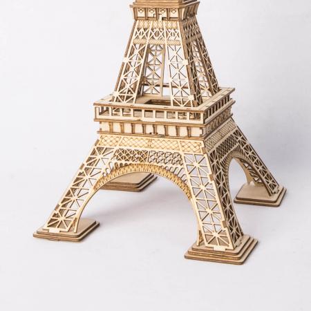 Turnul Eiffel - Puzzle 3D din lemn3