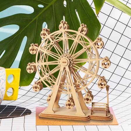 Roata magică - Puzzle 3D din lemn5