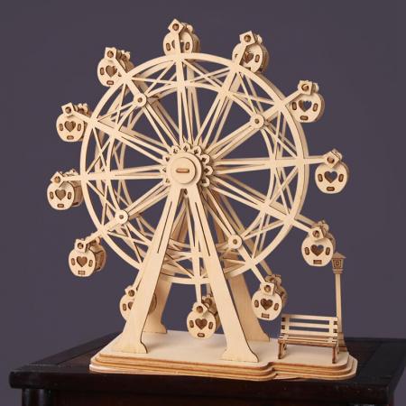 Roata magică - Puzzle 3D din lemn4