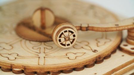 Gramofon - Puzzle 3D din lemn3