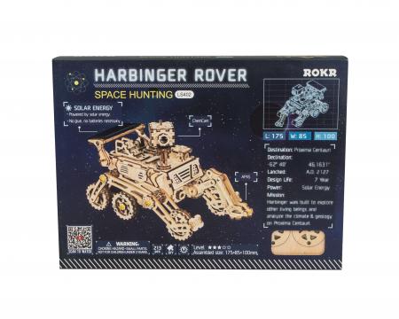 Harbinger Rover - Puzzle mecanic 3D din lemn1