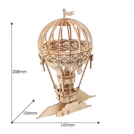 Balon cu aer cald - Puzzle 3D din lemn5
