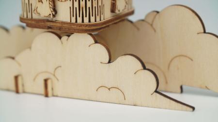 Balon cu aer cald - Puzzle 3D din lemn3