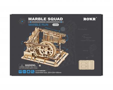 Marble Squad - Puzzle mecanic 3D din lemn3