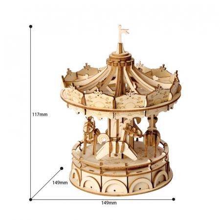 Carusel - Puzzle 3D din lemn2