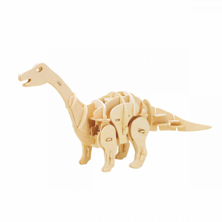Dinozaur Apatosaurus - MechFun Puzzle Mecanic 3D din Lemn [0]