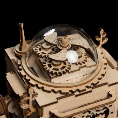 Robot muzical Orpheus - Puzzle mecanic 3D din lemn4