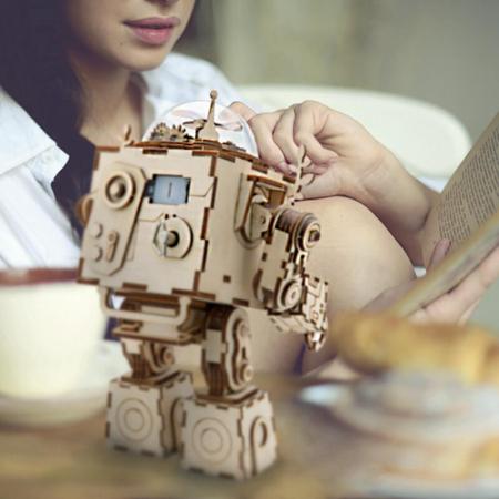 Robot muzical Orpheus - Puzzle mecanic 3D din lemn6