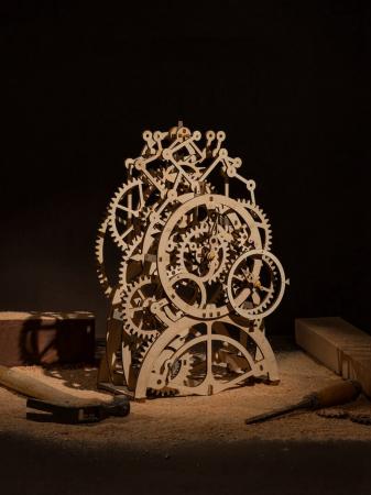 Ceas cu pendul - Puzzle mecanic 3D din lemn1