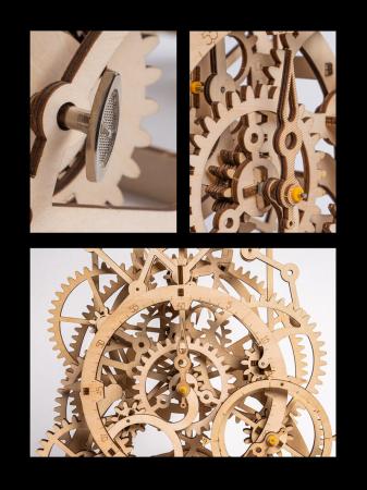 Ceas cu pendul - Puzzle mecanic 3D din lemn5