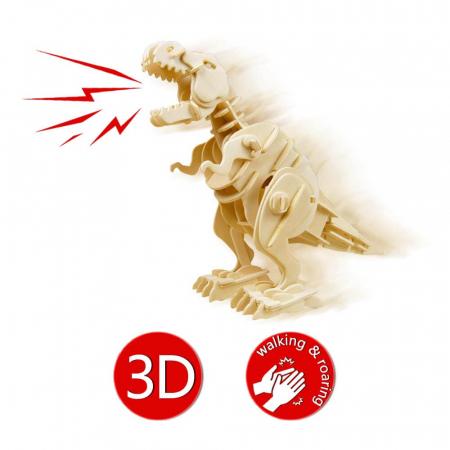 Teribilul T-Rex - Puzzle 3D din lemn [6]