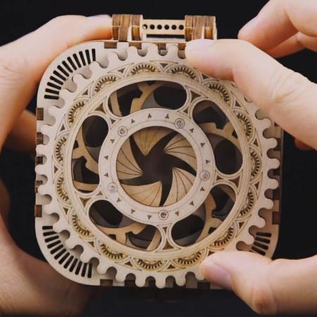 Casetă de bijuterii - Puzzle mecanic 3D din lemn2