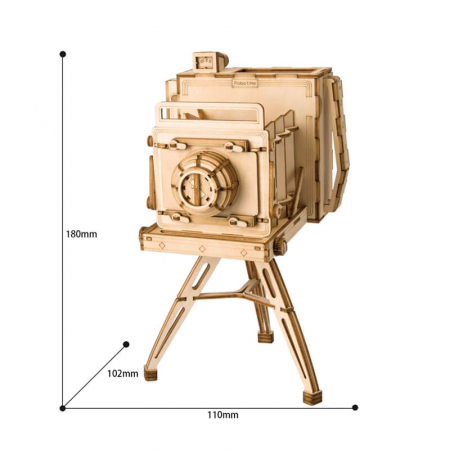 Aparat foto de colecţie - MechFun Puzzle 3D din lemn [2]