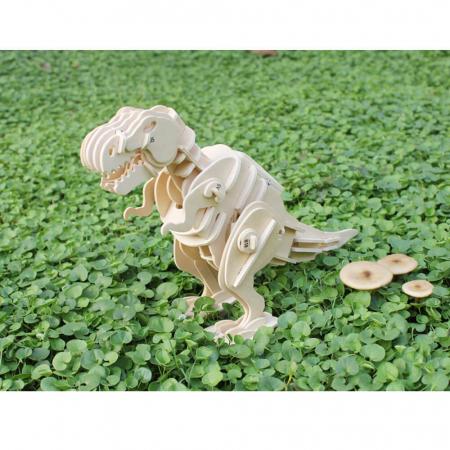 Teribilul T-Rex - Puzzle 3D din lemn [4]