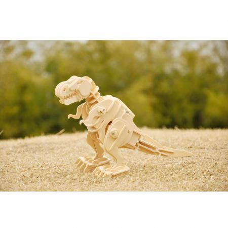 Teribilul T-Rex - Puzzle 3D din lemn [3]