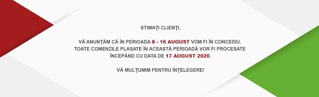 Anunt concediu august 2020
