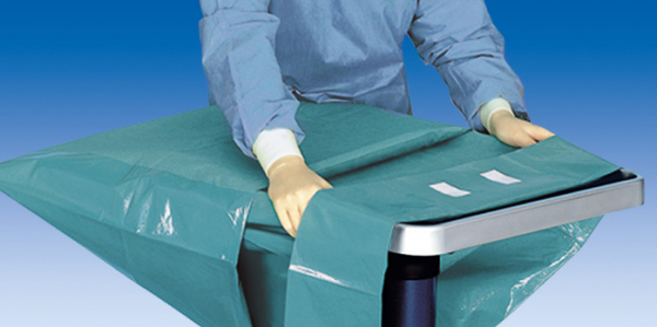 Campuri chirurgicale ranforsate pentru masa de instrumente FOLIODRAPE Protect Plus 0