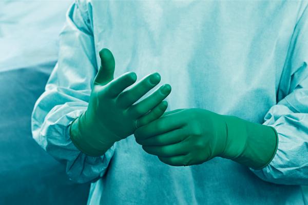 Manusi chirurgicale Peha-underglove din latex, verzi 1