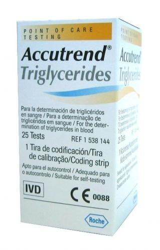 Teste Accutrend Trigliceride 0