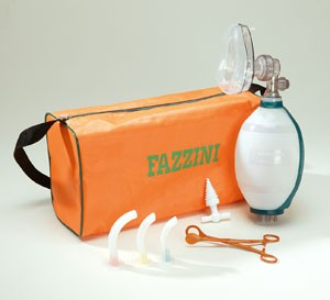 Trusa resuscitare Fazzini cu balon si masca silicon copii REAMAN 0