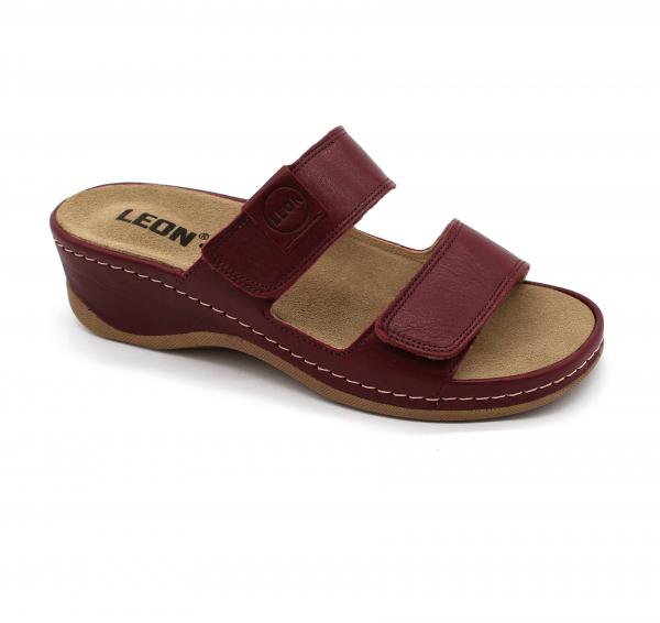 Papuci medicali Leon 2020 bordo - dama [0]