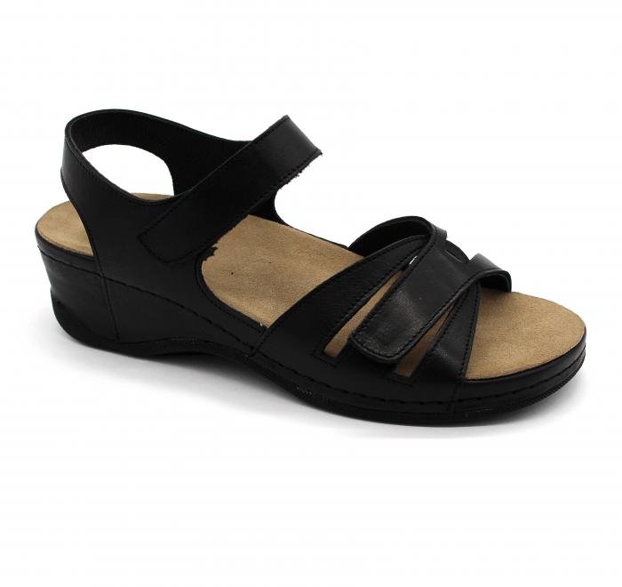 Sandale Leon 2021 negru - dama - cu taloneta detasabila [0]