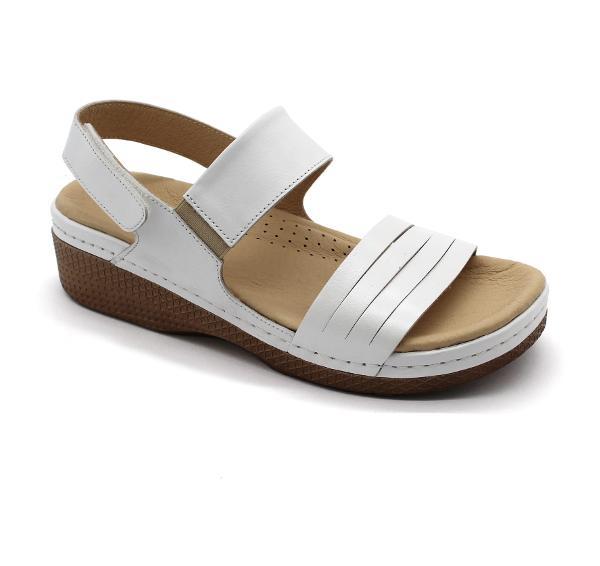 Sandale medicali Leon 411 alb - dama 0
