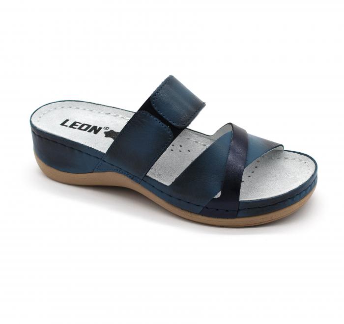 Saboti medicali Leon 909 albastru - dama 0
