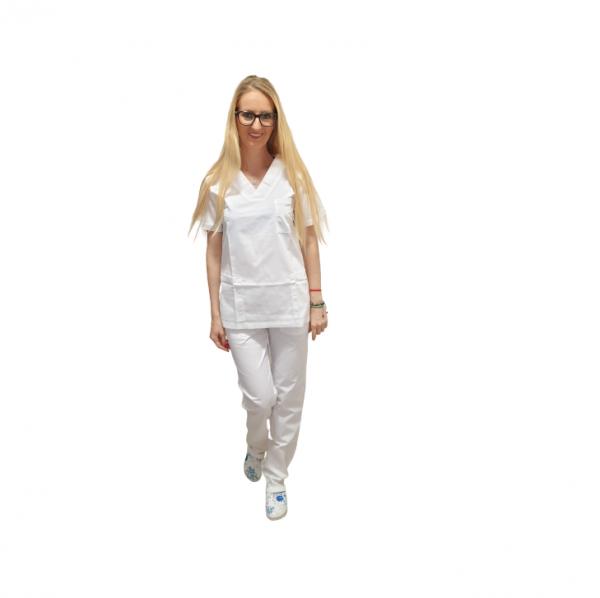 Costum medical alb - unisex 0