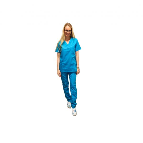 Costum medical turcoaz - unisex 0