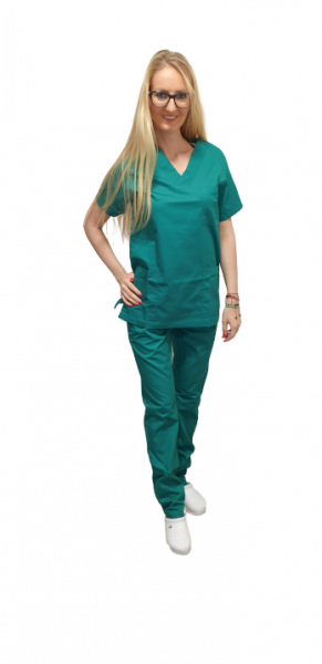 Costum medical verde chirurgical - unisex 0