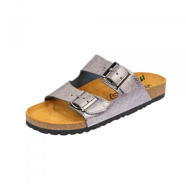 Papuci Medi+ Ena 32 lizard argentum - dama 0