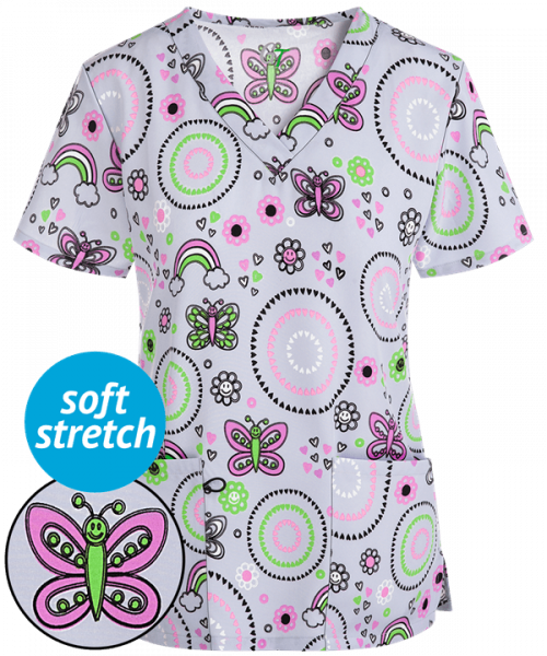 """Bluza medicala """"Geo hearts butterfly"""" (GT501GHB) 0"""