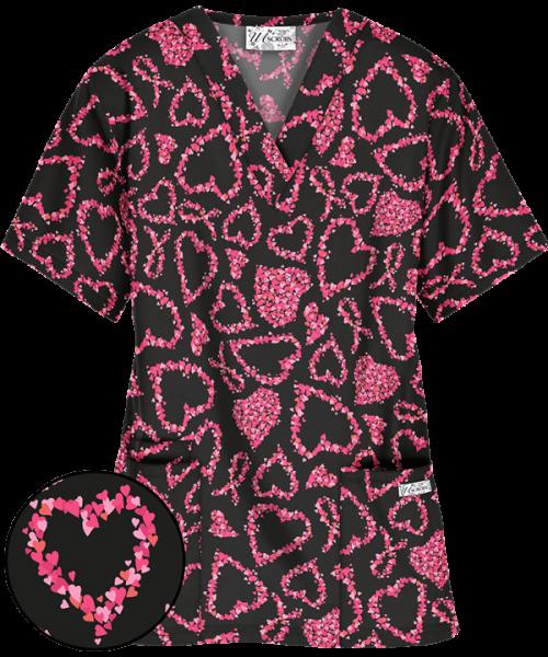 "Bluza medicala ""Heartfelt ribbon"" (PC61HRB) 0"