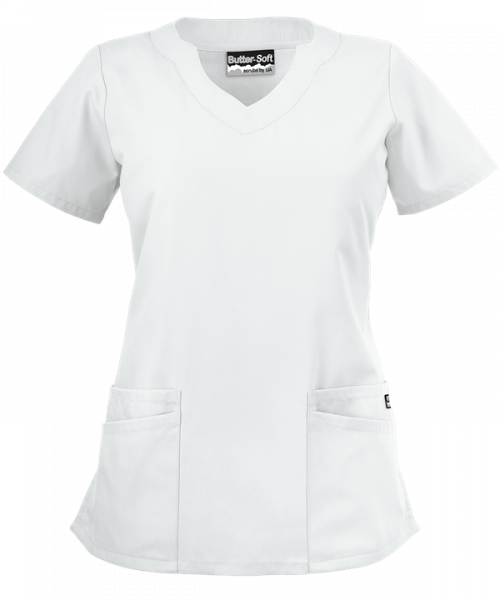 "Bluza medicala ""Scallop neck"" (UAS194C) 0"