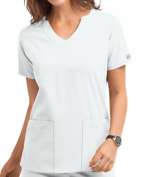 "Bluza medicala ""Scallop neck"" (UAS194C) 1"