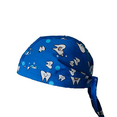 Boneta albastra cu dintisori 0