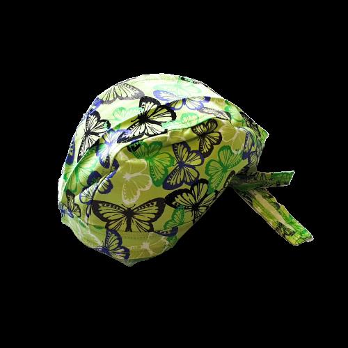 Boneta verde cu fluturasi 0