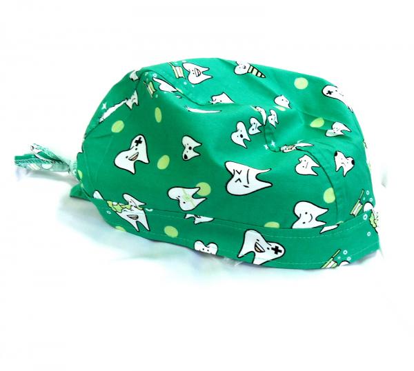Boneta verde cu dintisori 0
