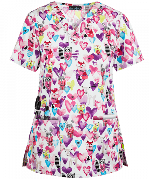"Bluza medicala ""Happy Hearts"" (CK616HAP) 0"
