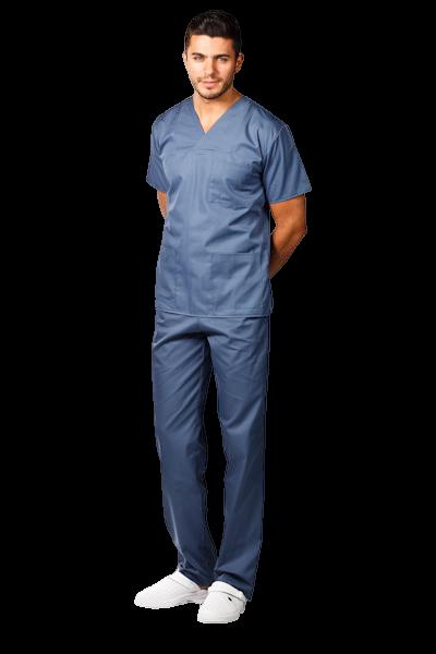 Costum medical gri petrol - unisex 0
