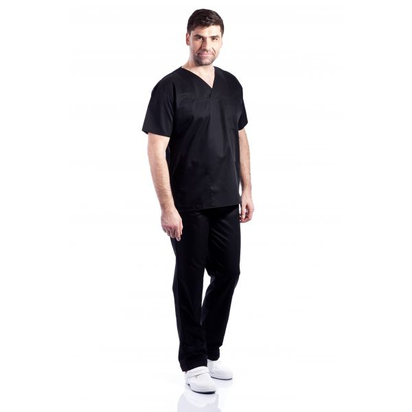 Costum medical negru - unisex 0
