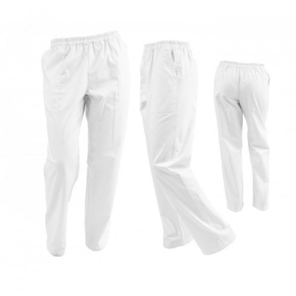 Pantaloni alb unisex 0