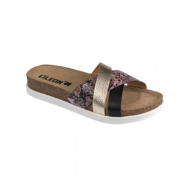Papuci cu talpa ortopedica Leon 1201 negru - dama 0