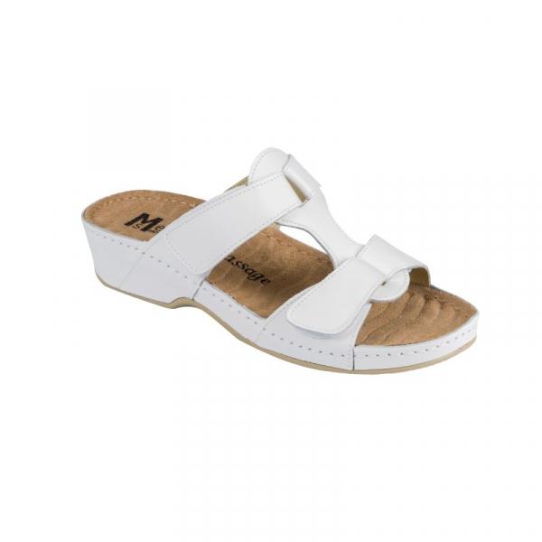 Papuci Medi+ 242 alb - dama 0