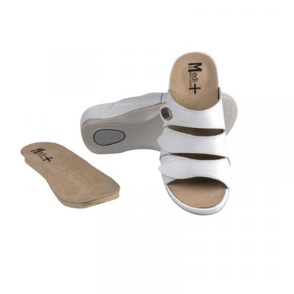 Papuci Medi+ 701-18 alb - dama 0
