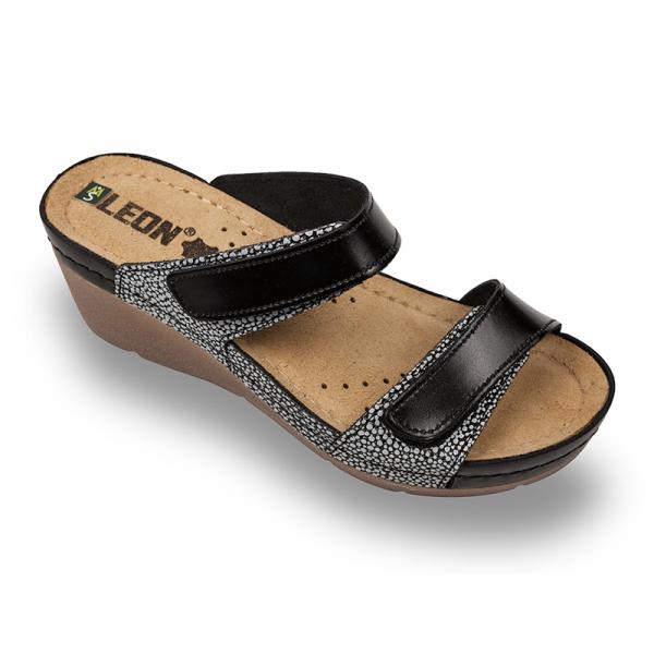 Papuci medicali Leon 1040 negru - dama 0