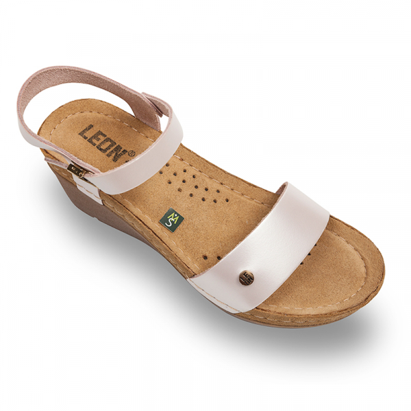 Sandale Leon 1015 perla - dama 0