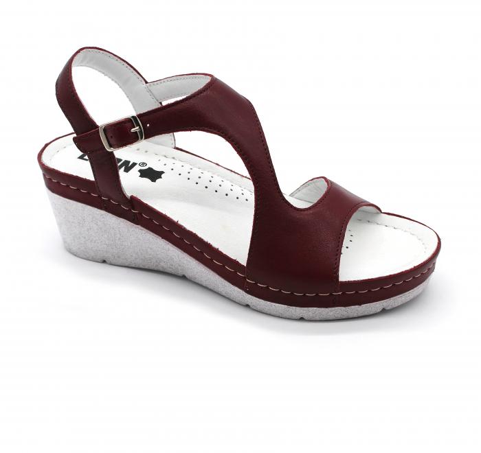 Sandale Leon 1050 bordo - dama 0